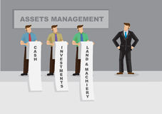 Asset Management for Business Cartoon Vector Illustration Stock Photos