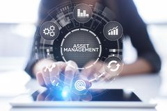 Free Asset Management Concept On Virtual Screen. Business Technology Concept. Stock Photography - 146790232