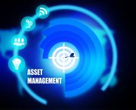 Asset Management concept plan graphic. Background Royalty Free Stock Photo