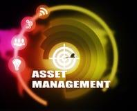 Asset Management concept plan graphic. Background Stock Photos