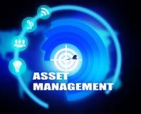 Asset Management concept plan graphic. Background Stock Images