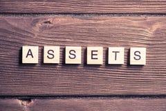Asset management concept Stock Photography