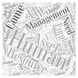 Asset Management and Human Resource Management word cloud concept  background Royalty Free Stock Photography