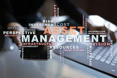 Free Asset Management On The Virtual Screen. Business Concept. Words Cloud. Stock Photos - 105165203