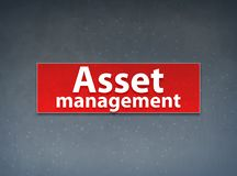 Asset Management Red Banner Abstract Background. Asset Management Isolated on Red Banner Abstract Background illustration Design royalty free illustration