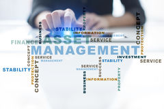 Asset management words cloud. Business technology concept stock photo