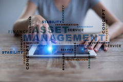 Asset management words cloud. Royalty Free Stock Photography
