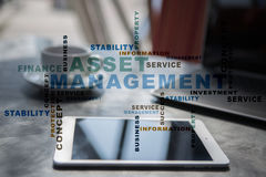 Asset management words cloud. Royalty Free Stock Image