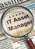 Asset manager di Job Opening l'IT 3d Immagine Stock Libera da Diritti
