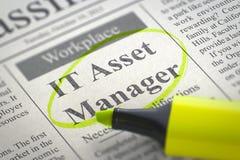 Asset manager ora di noleggio dell'IT 3d Immagine Stock
