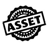 Asset rubber stamp Stock Photo