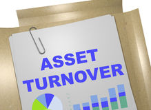 Asset Turnover concept. 3D illustration of ASSET TURNOVER title on business document Stock Photo