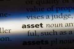 Asset. Word in a dictionary.  concept Royalty Free Stock Photo