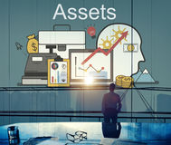 Assets Accounting Money Financial Concept. Business People Thinking Assets Accounting Money Financial stock photography