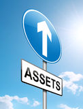 Assets concept. Royalty Free Stock Image