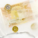 Assets, frosen in ice Stock Photography