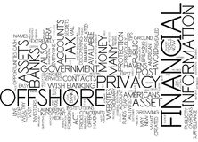 Assets Haven Protects Financial Privacy In Post Era Word Cloud Concept Royalty Free Stock Image