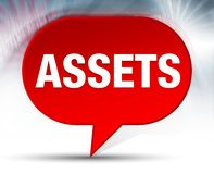 Assets Red Bubble Background royalty free illustration