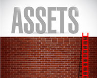 Assets ladder illustration design Stock Photos