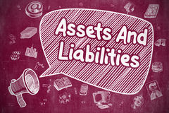 Assets And Liabilities - Business Concept. Stock Photography