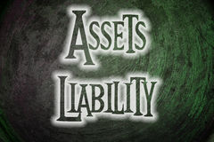 Assets Liability Concept Stock Image