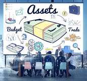 Assets Property Financial Money Estate Capital Budget Concept Royalty Free Stock Photography