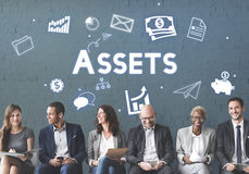 Assets Property Holdings Goods Capital Budget Concept.  Royalty Free Stock Image