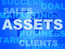 Assets Words Shows Wealth Valuables And Goods Royalty Free Stock Photos
