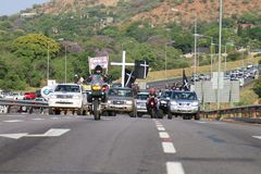 Assez-être-assez, anti campagne Rustenburg, sud de meurtre d'agriculteur Photo libre de droits