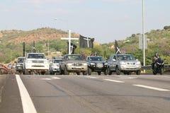 Assez-être-assez, anti campagne Rustenburg, sud de meurtre d'agriculteur Image stock
