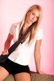 Assez blond avec la relation étroite Photographie stock