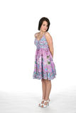 Assez de l'adolescence dans la robe Photos stock