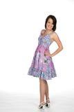 Assez de l'adolescence dans la robe mignonne Photos libres de droits