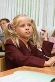 Assez le blond à une leçon Images stock