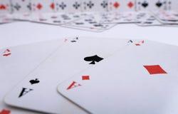 Assi con le carte da gioco Fotografia Stock