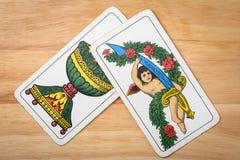 Assi del gioco di carte Fotografia Stock
