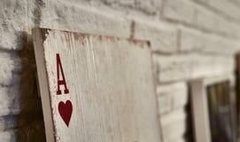 Assi di legno delle carte da gioco per la decorazione Fotografia Stock