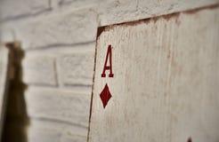 Assi di legno delle carte da gioco per la decorazione Immagine Stock