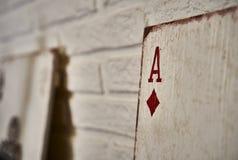 Assi di legno delle carte da gioco per la decorazione Fotografie Stock Libere da Diritti