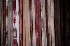 Assicella di legno immagine stock
