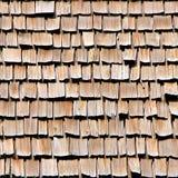 Assicelle di legno del tetto Fotografie Stock