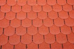 Assicelle rosse del tetto Fotografia Stock