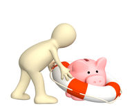 Assicurazione dei contributi della banca Fotografia Stock Libera da Diritti