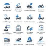Assicurazione del veicolo - serie blu Immagine Stock Libera da Diritti
