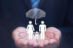 Assicurazione della famiglia Fotografia Stock