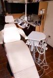 Assicurazione dentaria del dentista della sedia immagini stock libere da diritti