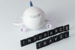 Assicurazione di viaggio æreo Fotografia Stock Libera da Diritti