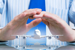 Assicurazione di volo di linea aerea Immagini Stock Libere da Diritti