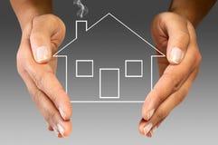 Assicurazione domestica Fotografia Stock