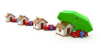 Assicurazione domestica, assicurazione sulla vita, assicurazione automatica Immagini Stock
